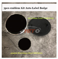 ABS Black Base 3pcs/set 82MM 82MM 45MM Car Steering Wheel  A C    2
