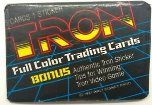 1981 TRON Movie Trading Cards Donruss Wax Pack Cards