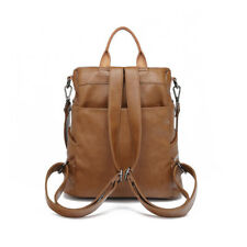 Women Students Genuine Leather Backpack Rucksack Handbag Crossbody Shoulder Bag