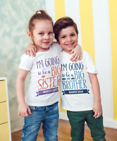 Big brother /sister Personalised Baby Vest or tshirt Pregnancy announcement