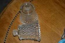 Set Of 2 Homco Diamond Point Clear Votive Cups Candle Holders Nice