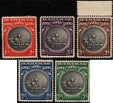 Bahamas 1930 Tercentenary (5) SG 126-30 CV GBP70 Mint Hinged (3d MUH) See scans