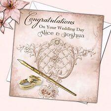 Personalised Wedding Day Congratulations Card XL