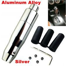Silver Car/Van Gear Shift Knob Stick Automatic Shifter Lever Universal w/Button