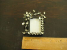 """Jeweled Picture Frame Holds Picture approx 1 1/4"""" X 1 5/8"""""""