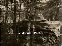 WK 2, Panzer im Wald, Großes Orig. Photo um 1940