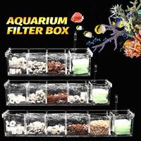 2-6 Grids Acrylic Aquarium Fish Tank External Filter Box Without Pump US Stock