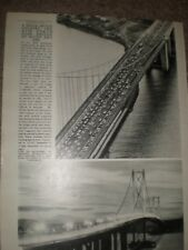 Photo article the new Forth Road Bridge by day and night 1964 ref AY