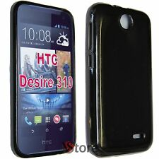 Cover Custodia Per HTC Desire 310 NERO GEL TPU