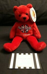 BEANIE BEAR RED HARD ROCK CAFE HOLLYWOOD COLLECTABLE NEW TAGS SMALL RITA BEARA