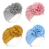 Flower Baby Girls Hat Elastic Todder Turban Hats Baby Beanie Cap for 0-3 Years