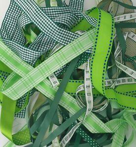 Green Shade Ribbon Bundles Berisfords A Selection of 10 x 1m Lengths