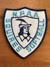 Vtg NPAA Squires Softball Sew On Embroidered Patch North Penn Athletic Badge