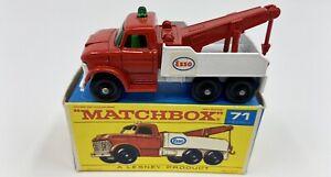 Matchbox No. 71 'Esso' Wreck Truck in Original Box