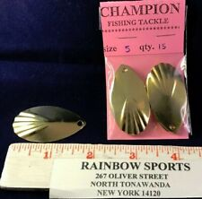 "Teardrop Fluted Spinner Blades #5 Brass (approx 1 7/8"" long) 15pk."