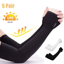 5 Pairs Cooling Arm Sleeves Outdoor UV Sun Protection Basketball Sport Arm Cover