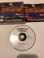 😍 jeu playstation 1 ps1 ps2 ps3 psx elemental pinball complet bel etat pal