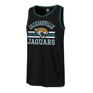 Jacksonville Jaguars NFL '47 Brand Black Edge Super Rival Men's XL Tank Top New