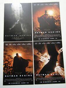 Batman Begins 2005 Total Film Promo Postcards Set of 4 Release 16th June (e6)