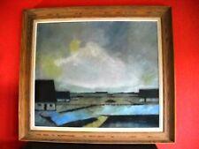 Ölgemälde - oil on canvas - Landschaft blau - signiert Th.Michelsen - Ölbild