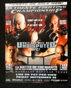 "Official UFC 44 Autographed Tito Ortiz vs Randy Couture Mini Poster 8.5""x11"""