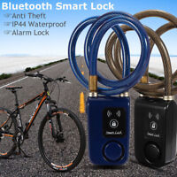 Bluetooth Smart Lock Bike Bicycle Alarm Chain Keyless Door Phone APP Anti Theft