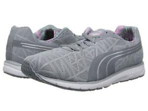 NEW Womens Puma Narita V2 Grey/White/Pink Size 9 Running Shoes