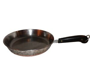 """Vintage Revere Ware 10"""" Skillet Frying Pan Copper Bottom USA Clinton IL """"NO LID"""""""