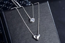 Heart Charm Pendant 925 Sterling Silver Chain Necklace Womens Girls Jewellery UK
