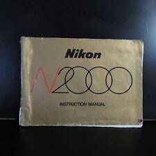 Nikon N2000 Camera User Guide Instruction Manual English B00116