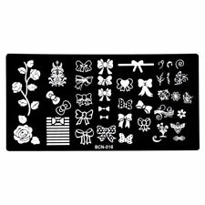 BOW NAIL ART STAMPING PLATE IMAGES STAMPER MANICURE POLISH TEMPLATE STAMPER UK