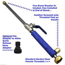 Garden Hose High Pressure Spray Wand Attachment Nozzle Power Washer Deck Car