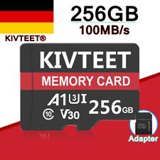 KIVTEET 256GB Speicherkarte 100MB/S 4K Class10 Flash TF Karte Mit Adapter Neu