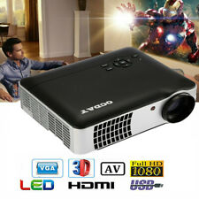 Cheap Portable 5.8'' 8000 LMs LCD 3D 1080P Projector Home Cinema Office WIFI