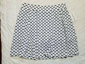 1 NWT CATHERINE WINGATE WOMEN'S SKORT, SIZE: 10, COLOR: WHITE/BLACK (J186)