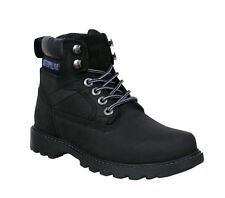 "Caterpillar Womens Willow 6"" Black Boots Nubuck Leather Size Uk 7 BRAND NEW!"