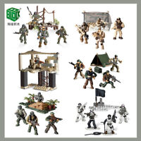 Military Blocks Bricks Task Force Soldiers Army Fit Mega Bloks Minifigures