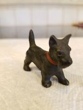 Hubley cast Iron Minature Black Standing Scotty Dog figurine Old Party Favor