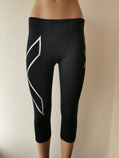 2XU Mens 3/4 Capri  Tights Leggings - Black Size XS
