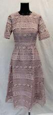 ASOS Women's Design Premium Lace Midi Dress GG8 Mink Size UK:6 US:2 NWT