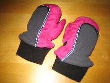 Baby Handschuhe  aus Plüschfleece  grau mit Hunden