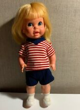 "Vintage 1967 Mattel Baby Small Walk 11"" Doll - Blonde Hair - Doesn't Work"