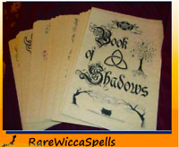 Spell BOOK OF SHADOWS Over 400 Loose Parchment Pages Wicca Pagan Rituals