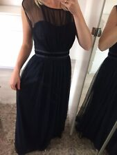 🌸 Debut Uk8 Dress Maxi Long Tutu Prom Bridesmaid Debenhams Flare Mesh Navy Blue