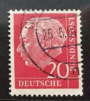 Bund BRD Michel Nr.185 gestempelt (1954/1961) Theodor Heuss I