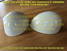 GENUINE BMW ASPEN WHITE MINI MIRROR COVERS COOPER R55 R56 R57 R58 R59 R60 JCW GP