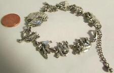 Fashion Bracelet Noah's Ark -Silvertone,  Adjustable - Inv. #886