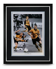 Steve Bull Signed Photo Large Framed Display Wolves Autograph Memorabilia + COA