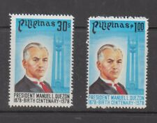 Philippine Stamps 1978 President Manuel Quezon Birth Centenary Complete set MNH