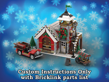 Aldea de invierno de Lego Estación De Bomberos instrucciones solo para ladrillos Lego (Navidad)